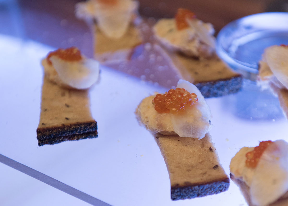 Hors d'oeuvres from the reception at the 2017 Hospitality Gala.